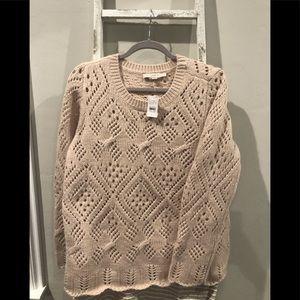 NWT Loft LOOSE knit crew neck sweater